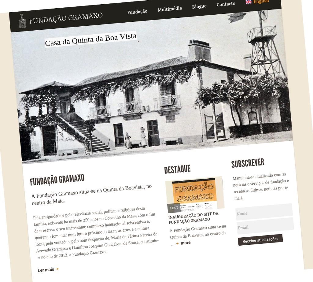 Site Fundação Gramaxo
